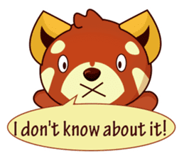 Red Pandas - English sticker #1417323