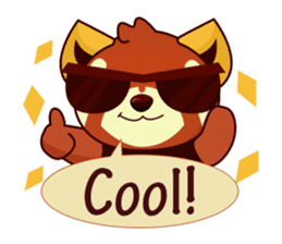 Red Pandas - English sticker #1417325