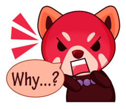 Red Pandas - English sticker #1417326