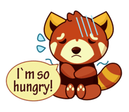 Red Pandas - English sticker #1417327