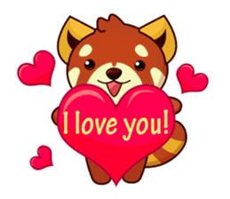 Red Pandas - English sticker #1417329