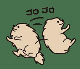 Pomeranian and Shihtzu sticker #1417332