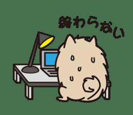 Pomeranian and Shihtzu sticker #1417340