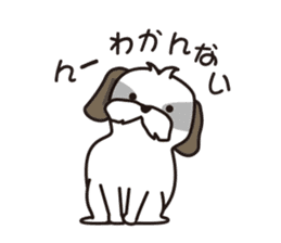 Pomeranian and Shihtzu sticker #1417343