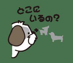 Pomeranian and Shihtzu sticker #1417361