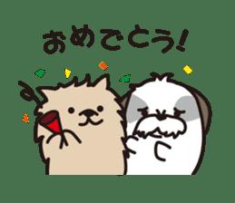 Pomeranian and Shihtzu sticker #1417367