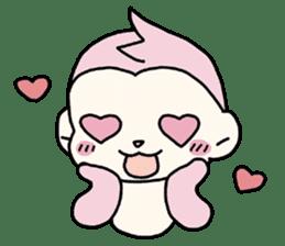 cute pink monkey sticker #1418498