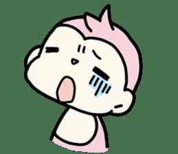 cute pink monkey sticker #1418502