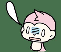 cute pink monkey sticker #1418508