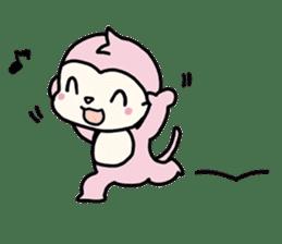 cute pink monkey sticker #1418509