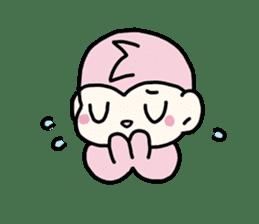 cute pink monkey sticker #1418510