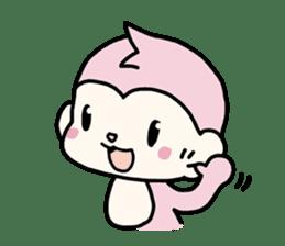 cute pink monkey sticker #1418511