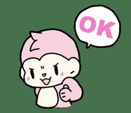cute pink monkey sticker #1418512