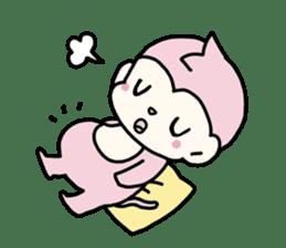 cute pink monkey sticker #1418520