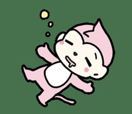 cute pink monkey sticker #1418521