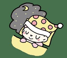 cute pink monkey sticker #1418525
