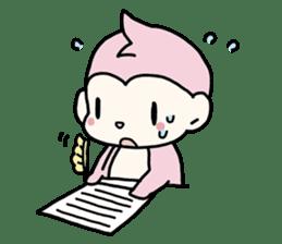 cute pink monkey sticker #1418528