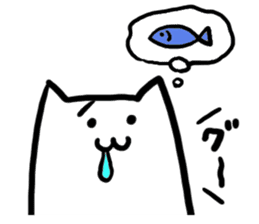Strange Shironeko. sticker #1419100