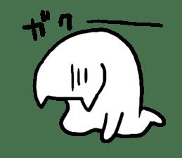 Strange Shironeko. sticker #1419126