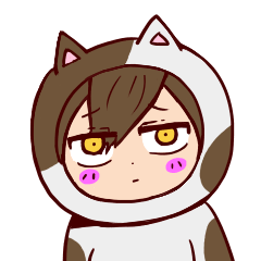 Buchimaru of cat with a human face.