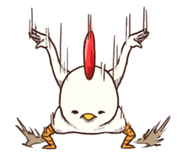 Life of chicken and chicks sticker #1430101