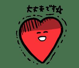 Mr.Red Heart sticker #1434593