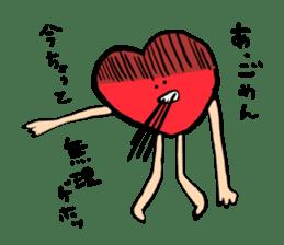 Mr.Red Heart sticker #1434601