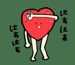 Mr.Red Heart sticker #1434611