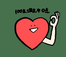 Mr.Red Heart sticker #1434614