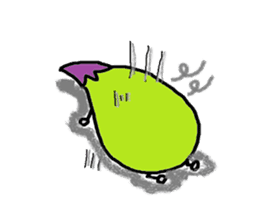eggplant character sticker #1434864