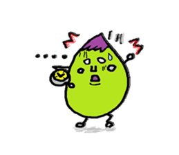 eggplant character sticker #1434897