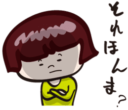 "girls ""Marron-chan"" (Kansai dialect) sticker #1438769"