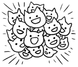 Anime character cat sticker #1443040