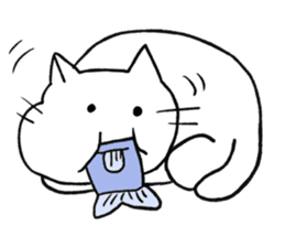 Anime character cat sticker #1443051