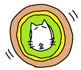 Mofu-san of gluttonous and lonely sticker #1445991