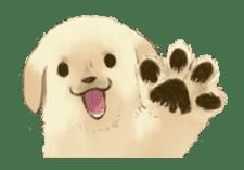 The Golden Retriever Puppy! sticker #1450595