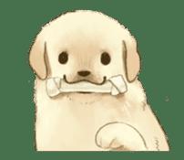 The Golden Retriever Puppy! sticker #1450596