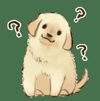 The Golden Retriever Puppy! sticker #1450597
