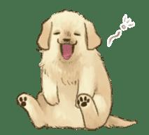 The Golden Retriever Puppy! sticker #1450604