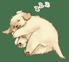 The Golden Retriever Puppy! sticker #1450605