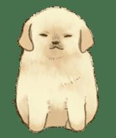 The Golden Retriever Puppy! sticker #1450619