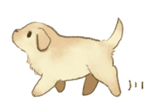 The Golden Retriever Puppy! sticker #1450620