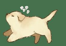 The Golden Retriever Puppy! sticker #1450621
