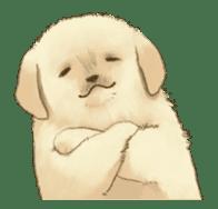 The Golden Retriever Puppy! sticker #1450631