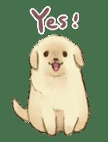 The Golden Retriever Puppy! sticker #1450633