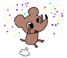 Brown mouse sticker #1451402