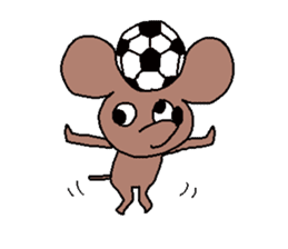 Brown mouse sticker #1451412