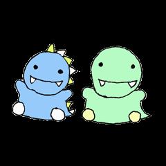 Green and blue dinosaur