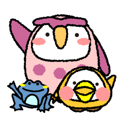 Peach owl And Friends