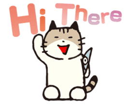 Pouch the Cat 4 English sticker #1459604